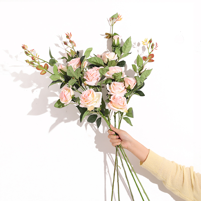 Xuanxiaotong 1pc High 90cm 3Head White Roses Artificial Flower for Wedding Centerpieces Arrangement Decor Valentine 39 s Day Flower in Artificial amp Dried Flowers from Home amp Garden