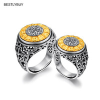 BESTLYBUY Couple Ring 100% Real 925 sterling silver Wedding Brand fashion engagement vintage ring jewelry 2018