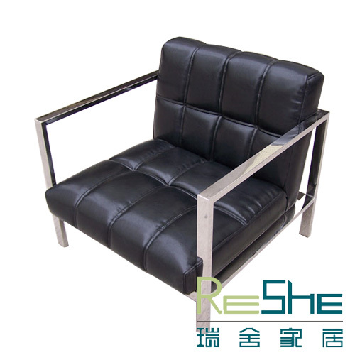 Swiss homes creative design lounge chair stainless steel Leather sofa chairs reception simple and stylish loungers  sc 1 st  AliExpress.com & Swiss homes creative design lounge chair stainless steel Leather ...