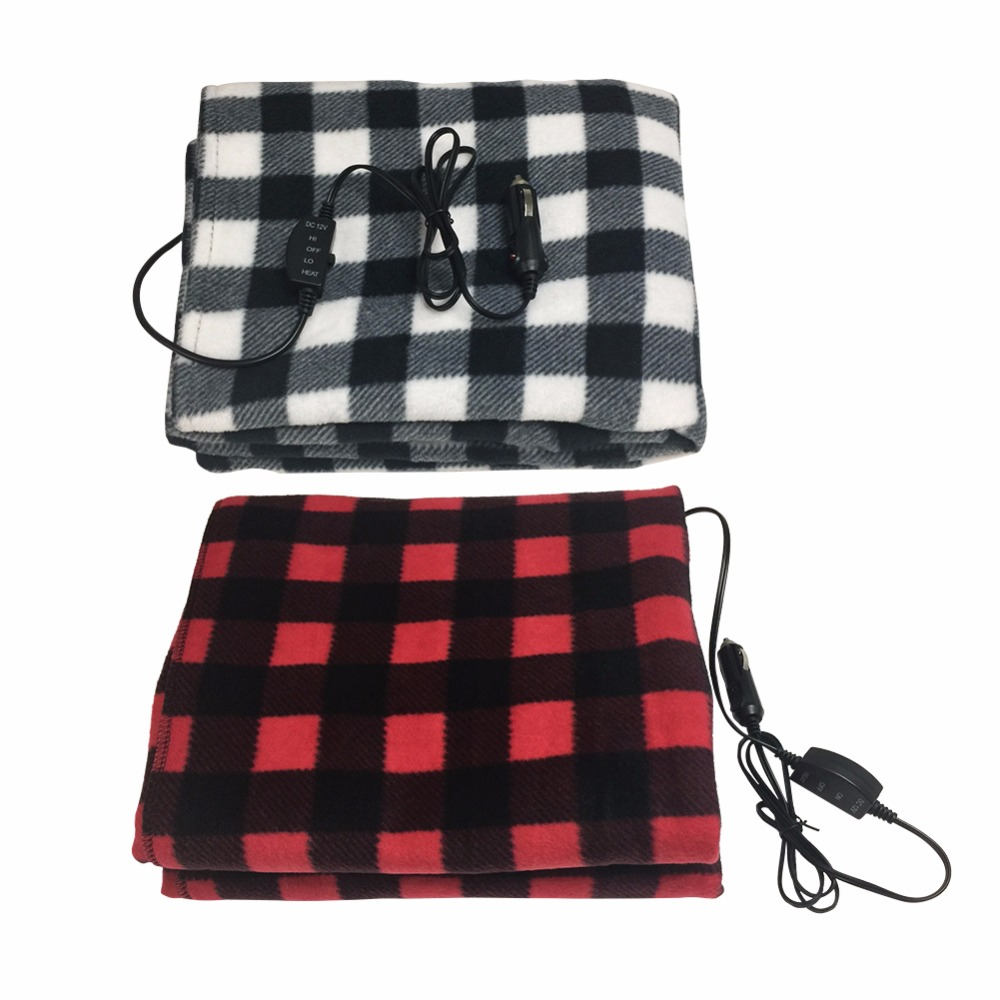 Per 12V Car Heating Blanket Fleece Car Electric Blanket Energy Saving Warm Heated Throw Rug for Travel Camping Picnic Heater Cold Weather 145100cm