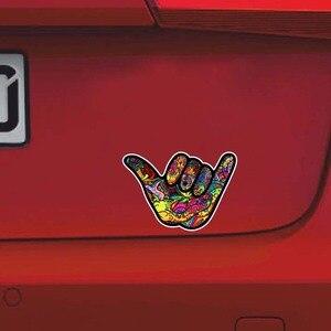 Image 5 - YJZT pegatina de PVC para coche, 12,7 CM x 8,9 CM, Shaka Hang, Graffiti suelto, pegatina reflectante, 12 0484