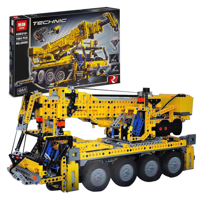 New Lepin 20068 Technic Mechanical Series The Moving Crane Set Children Educational Building Blocks Bricks Toys Model 8421 Gifts 2017 new 10680 2324pcs pirate ship series the slient mary set children educational building blocks model bricks toys gift 71042