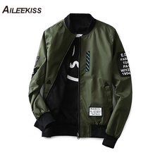 2019 Man Pilot Bomber Jacket with Patches Green Both Side Wear Men Pilot