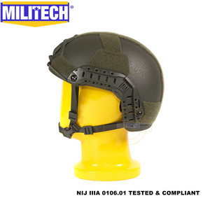 Image 3 - MILITECH Oliver Drab OD Deluxe Super High Cut Maritime NIJ level IIIA Bulletproof FAST Aramid Bullet Proof Ballistic Helmet CAG