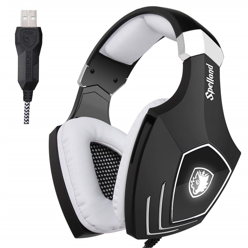 SADES A60 Stereo Gaming Headset 7 1 Virtual Surround Bass Gaming Earphone Headphone with Mic LED
