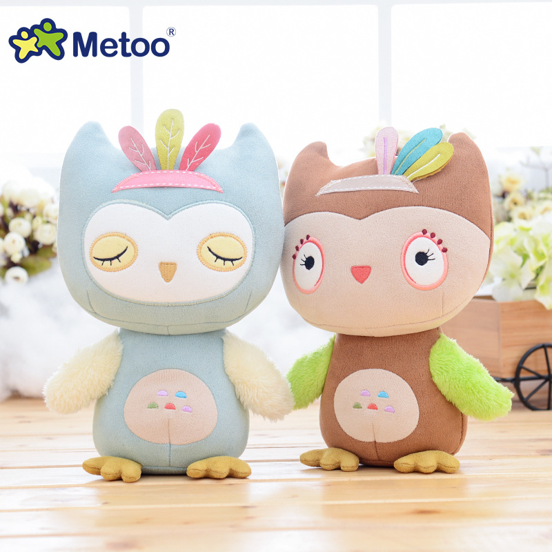 Stuffed Toy For Girls Baby Metoo Doll Cute Cartoon Plush Owl Kawaii Lovely Soft Animal For Kid Children Christmas Birthday Gift