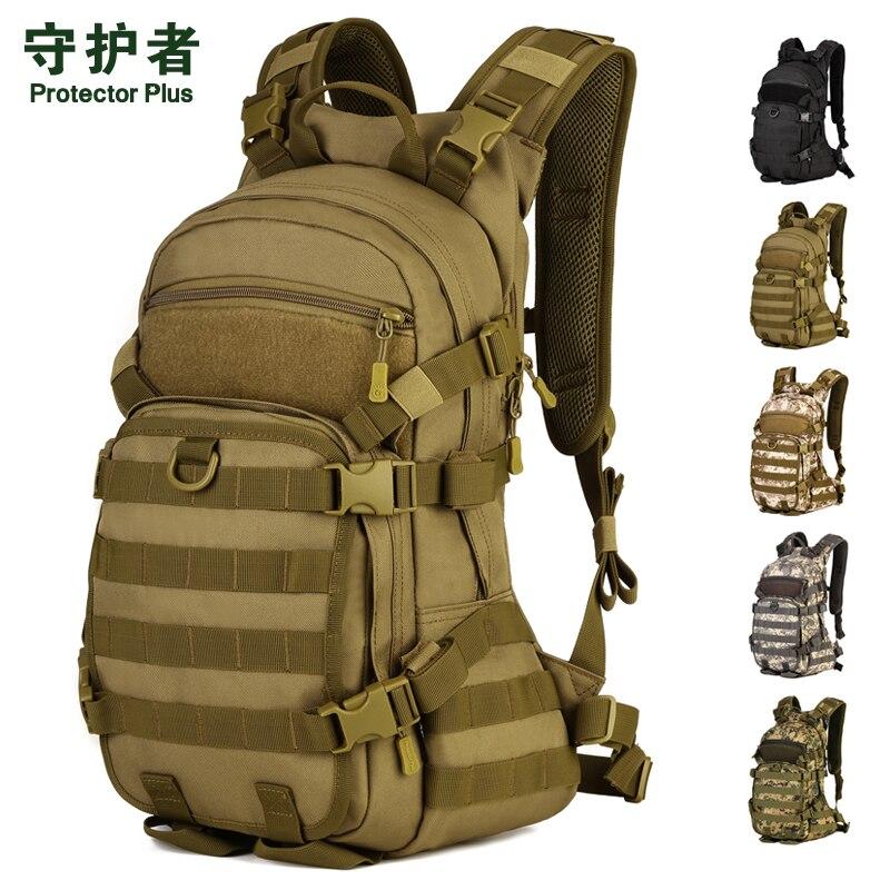 Sac à dos tactique protecteur Plus/S435 Nylon 25L sac de sport pour 2L sac à eau Camouflage militaire Trekking Pack sac de randonnée en plein air