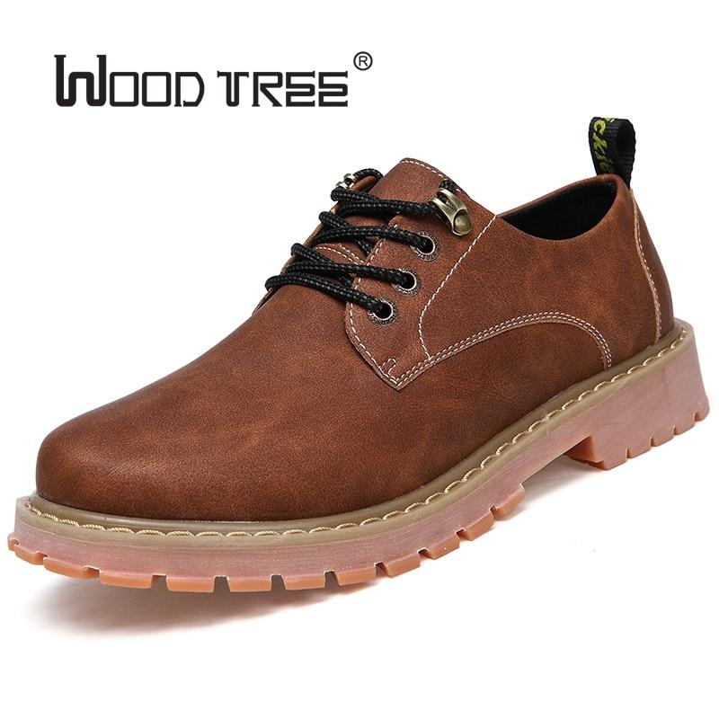 Woodtree Stivali Da Uomo 2018 Nuova Moda In Pelle Scamosciata scarpe da Uomo scarpe Casual oxfords per la Primavera Estate Inverno Sneakers Dropshipping