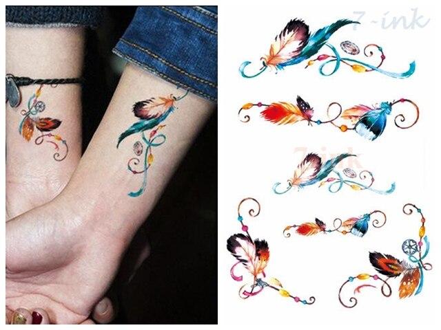 Transferencia De Agua Falso Tatuaje Pluma Tatuaje Temporal