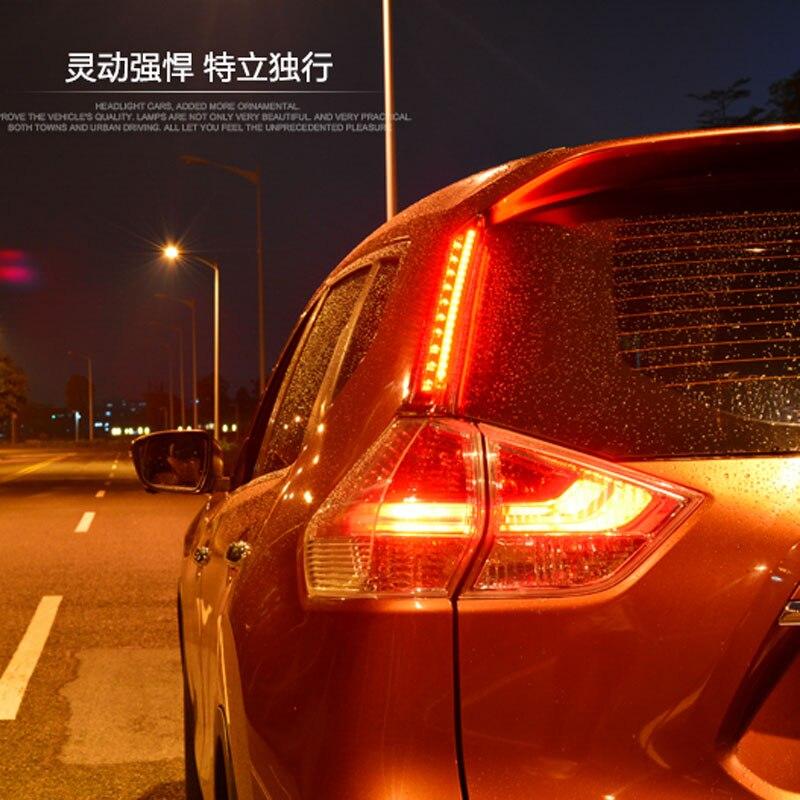 ФОТО Reflector, LED Rear Bumper Light, rear fog lamp, Brake Light For Nissan X-Trail 2014-16 1tail light reflector one pair
