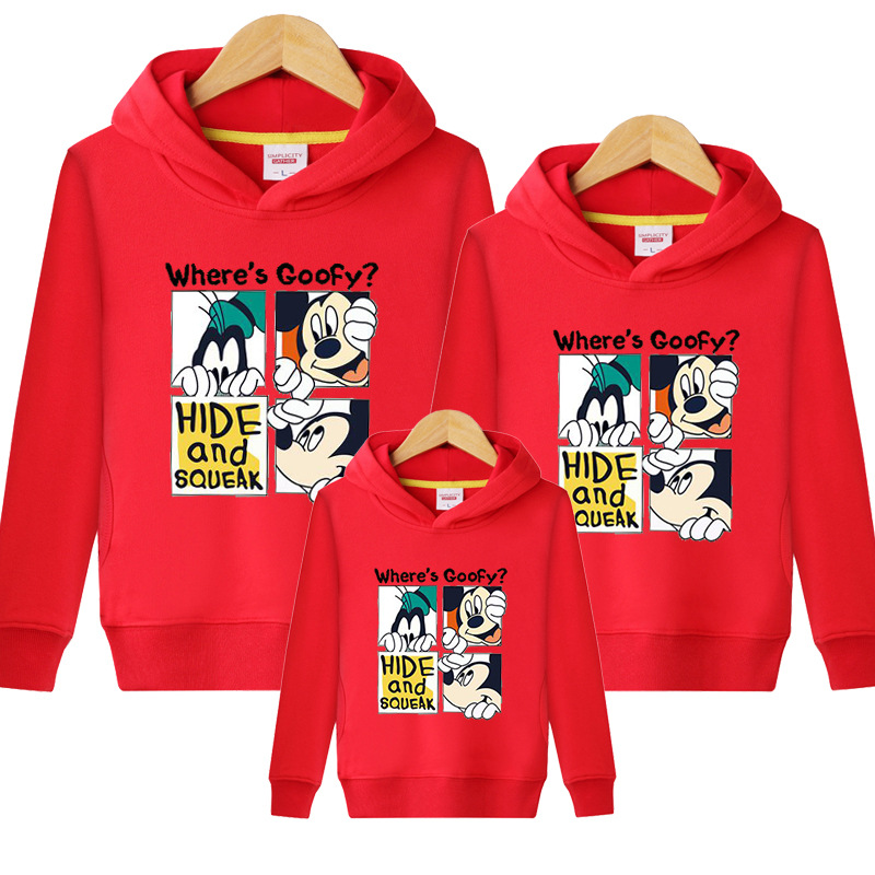 HTB19idGVQvoK1RjSZFwq6AiCFXaz - Family Matching Outfits Kids Long Sleeves Cartoon Mickey Hoodies Coats Father Mother Daughter Son Sweatshirts Dad Mom Hoodies