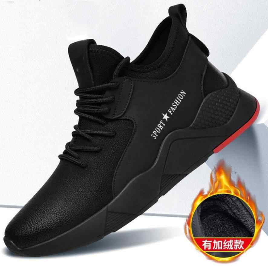 Nieuwe Mannen Schoenen Winter Warm Ankle Man Sneeuw Boot Fashion Sneakers Man Lace-UP Schoenen Hoge Top Casual Platte safty Schoenen Chaussures