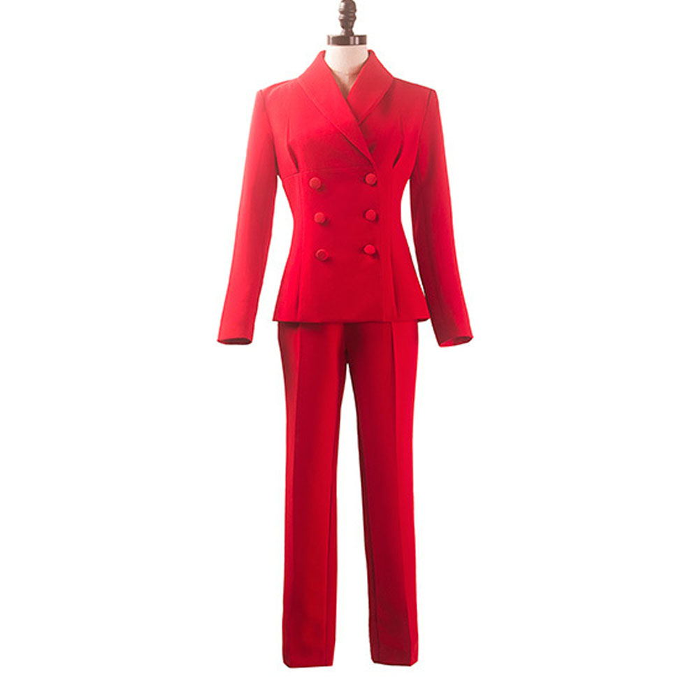 Bespoke Womens Suits Double Breasted Girls Office Buisness Suit Interview Uniforms Ladies Suit B278