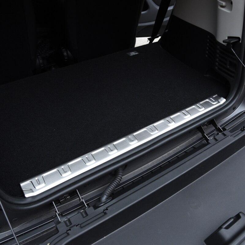 Acier inoxydable tronc garde pour la nouvelle Smart Fortwo453 tronc seuil Intérieur autocollant de décoration accessoires de modification de voiture