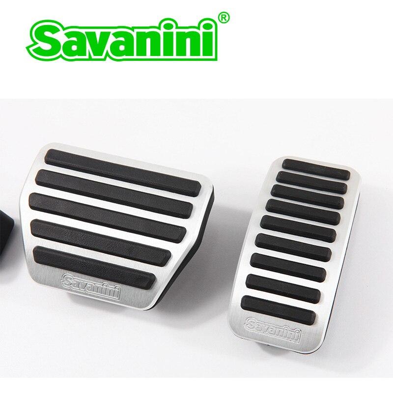 Savanini тормоза газа педаль акселератора Накладка для Infiniti QX60/QX80 и Nissan Murano авто без сверления алюминий - Название цвета: Murano 2 pcs