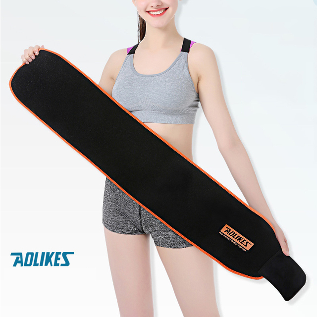 Women Sports Fitness Exercise Waist Band Pro Sweat Waist Trimmer Protector Female Belly Shaper Thin Adjustable Training Belt
