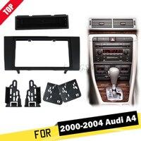 LONGSHI 173*98MM Double Din Car Radio Fascia for Audi A4 2000 2004 2DIN Dash Mount Kit Adapter Trim Facia Panel Frame Dashboard2
