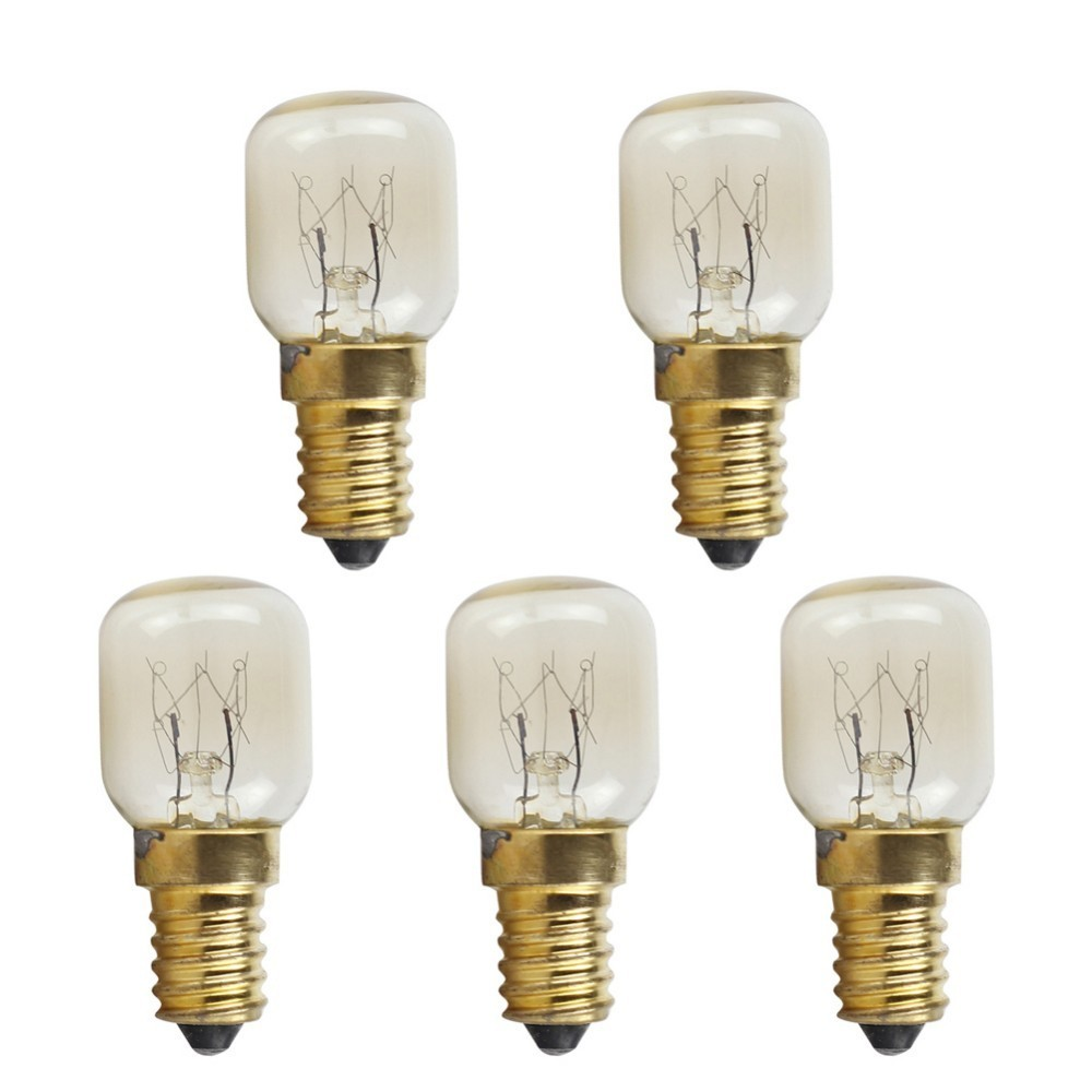 5 uds T25 E14 25W bombilla de horno de microondas resistente a alta temperatura 300 Celsius pequeña bombilla de tornillo Novedad bombilla LED Bombillas E27 220V 4,5 W 8W 220V ampollas de calidad superior lámpara LED E27