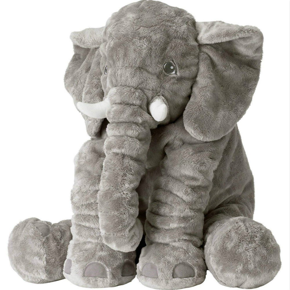 VIP 40/65cm Plush Elephant Pillow Soft Stuffed Toys Elephant For Baby Sleeping Back Cushion Infant Pillow Kids Doll