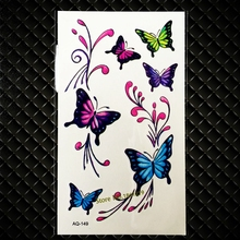 Colorful Flying Butterfly Temporary Tattoo Sticker Kids Children Body Arm Art Shoulder Decals Waterproof Tattoo Stickers GAQ-149