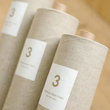 Cortina para pintura de linho com 150cm x 50cm, tecido de linho de algodão bege claro, pintura de patchwork, têxteis, pano
