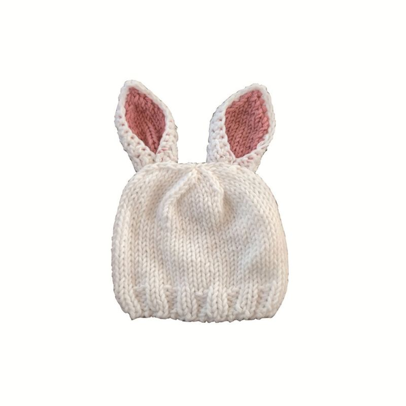 Premium New 1 set Pink Rabbit Newborn Baby Girls Boys Crochet Knit Costume Photo Photography Prop Hats Outfits for 0 6 Months in Hats Caps from Mother Kids