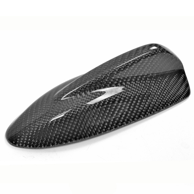$ 57.79 High Quality Real Carbon Fiber Top Mounted Roof Shark Fin Decorative Antenna Cover Aerial E Type