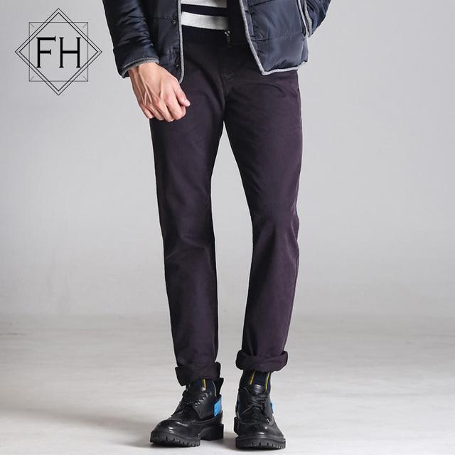 FUHAO 2016 Nuevo Otoño de Los Hombres Pantalones de Algodón Solid Casual Pantalones Delgados Masculinos Cómodos de Los Hombres Tácticos Pantalones Rectos G3265