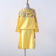 5XL 6XL Large Size Summer Dress Big Size Print Dress Blue Red Yellow Straight Dresses Plus Size Women Clothing Vestidos