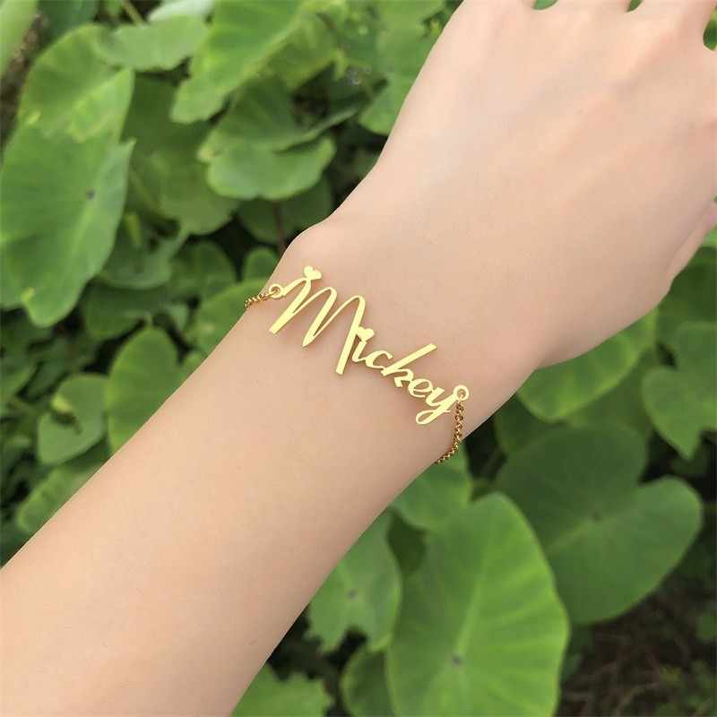 Personalised Name Bracelet in Stainless Steel for Women Custom Names Bracelet Gifts for Her