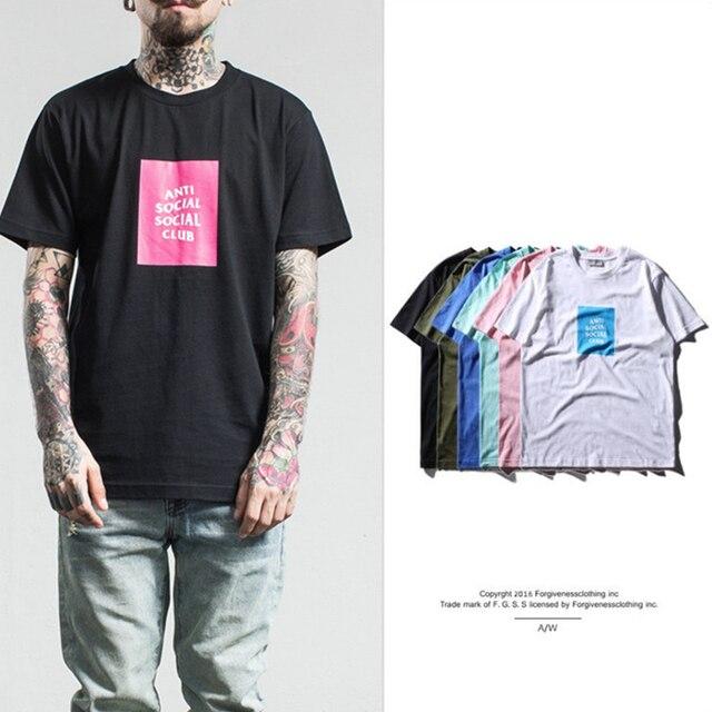 Hip Hop Homens Anti T-shirt Do Clube Social e GD Kanye oeste de Manga Curta t shirt das mulheres Dos Homens Camisetas de Alta qualidade clothing