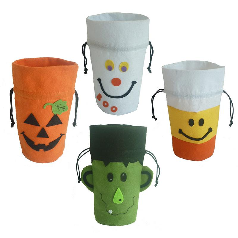 Halloween Ghost Festival Pumpkin White Ghost Sorcerer Corn Bunch Gift Bag Candy Bag Holiday Party Supplies Decoration
