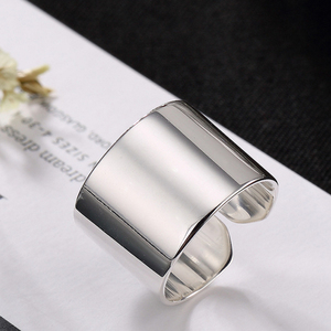 Image 4 - 2020 Hot Silver Color Simple Glossy Personality Fashion Wild Lady Open Ring For Man Woman Gift Wholesale