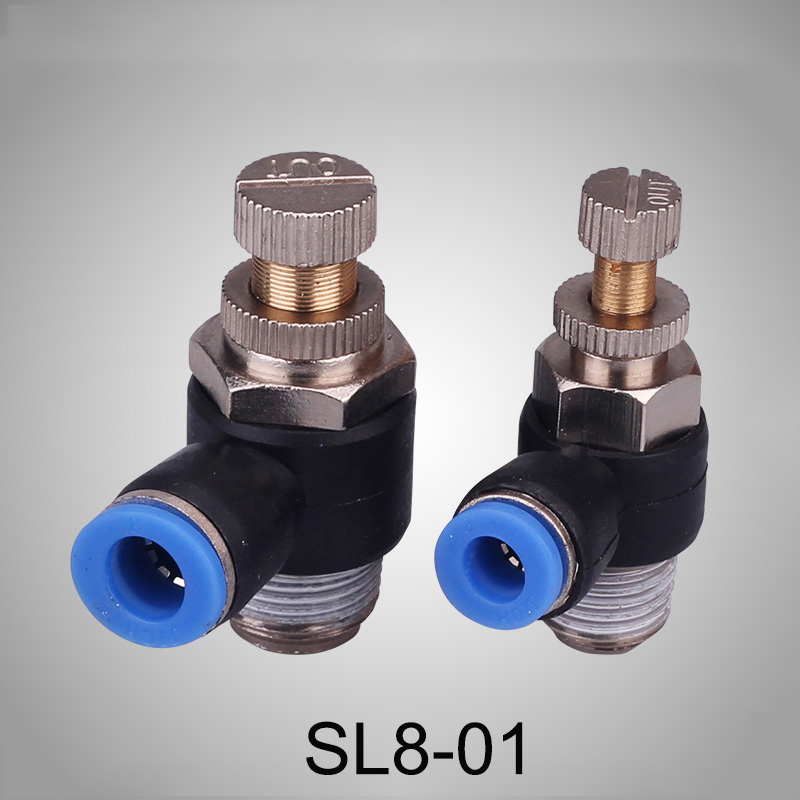 "1//8/"" Thread 8mm pneumatic Elbow Regulator Throttle Fitting Push fit air SL8 01"