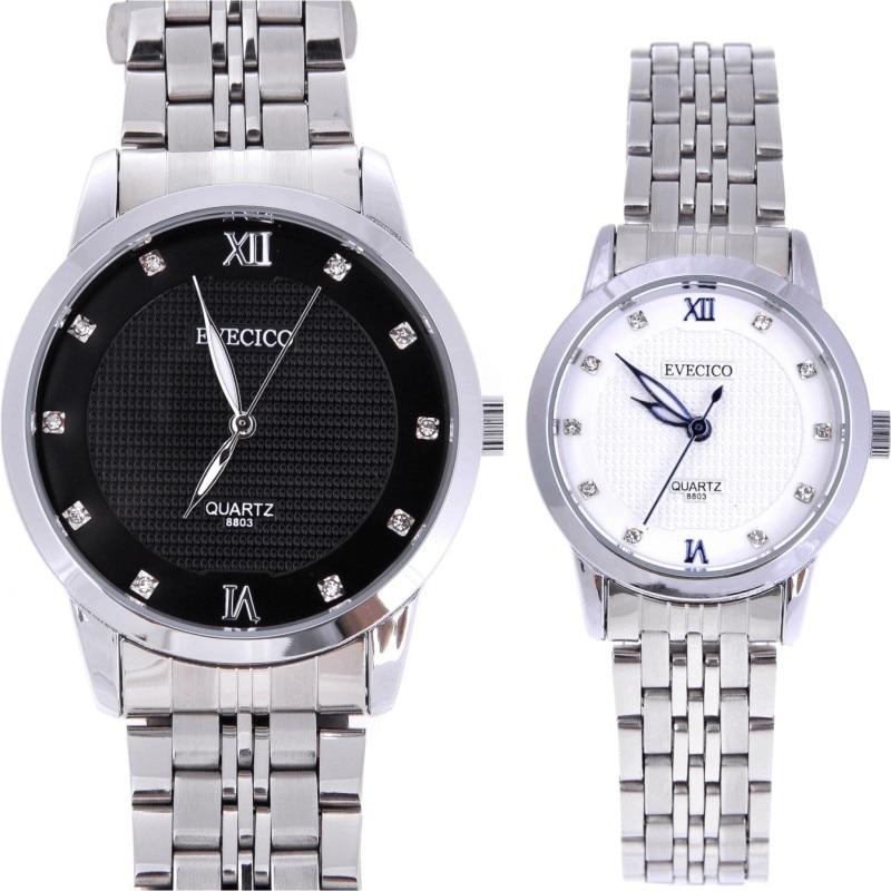 Commercial pointer brief fashion steel band rhinestone waterproof sports lovers quartz watches