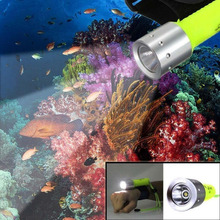 2200 Lumen CREE Q5 LED Diving flashlight waterproof scuba flashlight Torch Underwater Lanterna led for Diver flash light(China)