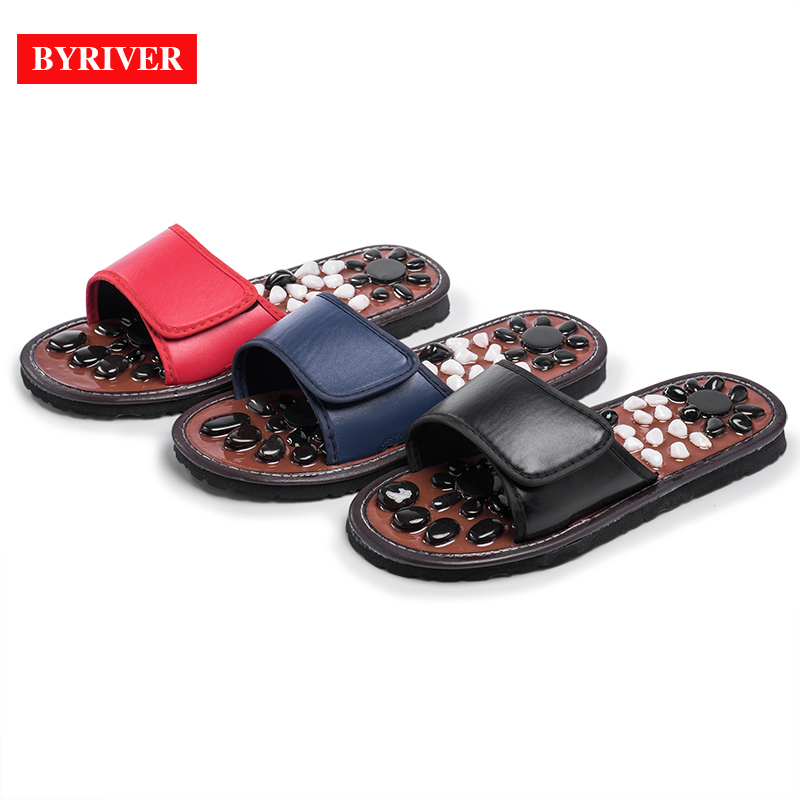 Купить с кэшбэком BYRIVER Reflexology Foot Massager Relaxation Massage Slippers Shoes Sandals, Relieve Back Arthritis Plantar Fasciitis Arch Pain