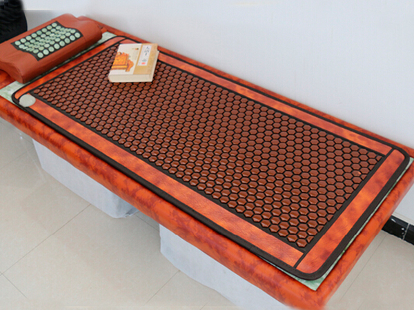 Best Quality+Digital Display ! Natural Tourmaline Physical Therapy Mat Jade Health Care Pad Infrared Heat Cushion! best selling korea natural jade heated cushion tourmaline health care germanium electric heating cushion physical therapy mat