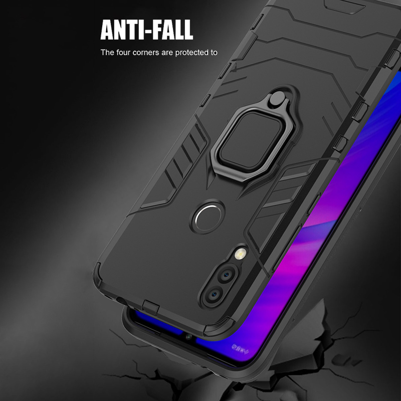 Image 4 - Armor Ring Case For xiaomi redmi 7 case Magnetic Car Hold Shockproof Protective Soft Bumper Phone Cover For xiaomi redmi 7 Case-in Fitted Cases from Cellphones & Telecommunications