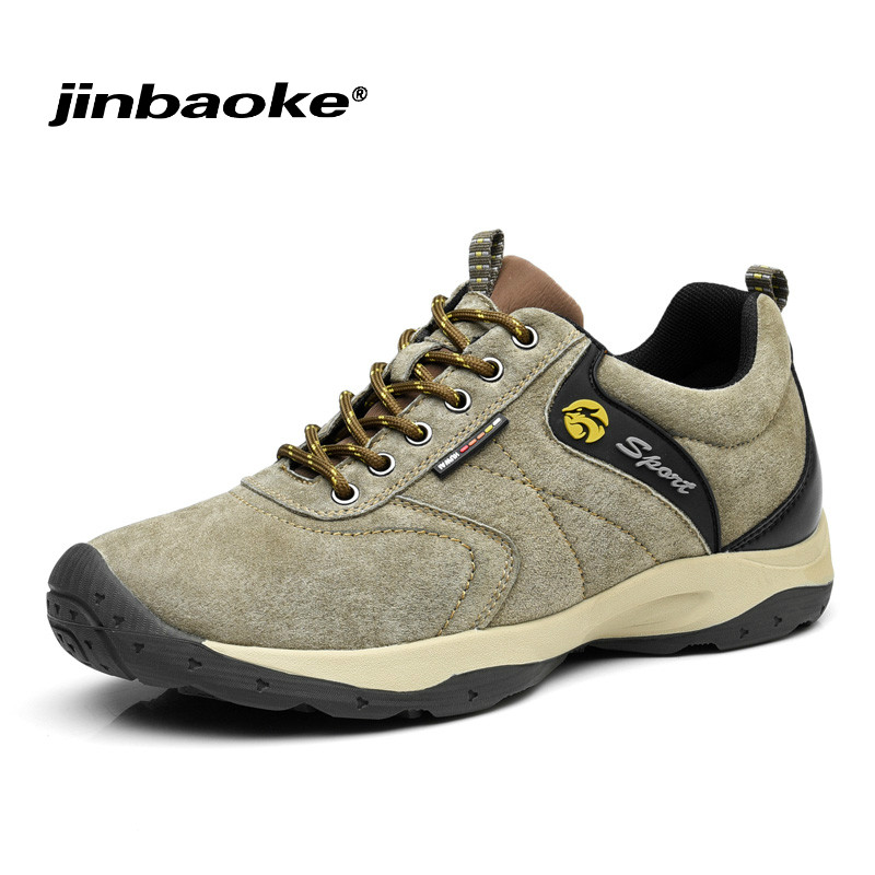 High Quality Genuine Leather Men Hiking Shoes Waterproof Hunting Antiskid Tourism Climbing Sneaker Outdoor Trekking Sports