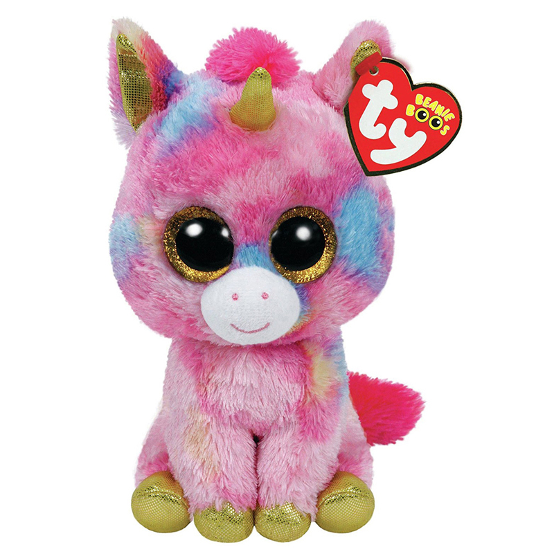 Ty Beanie Boos Plush Animal Doll Fantasia The Pink Unicorn Soft Stuffed Toys With Tag Large