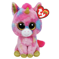 Ty Beanie Boos Plush Animal Doll Fantasia The Pink Unicorn Soft Stuffed Toys With Tag Large Size 18 45cm