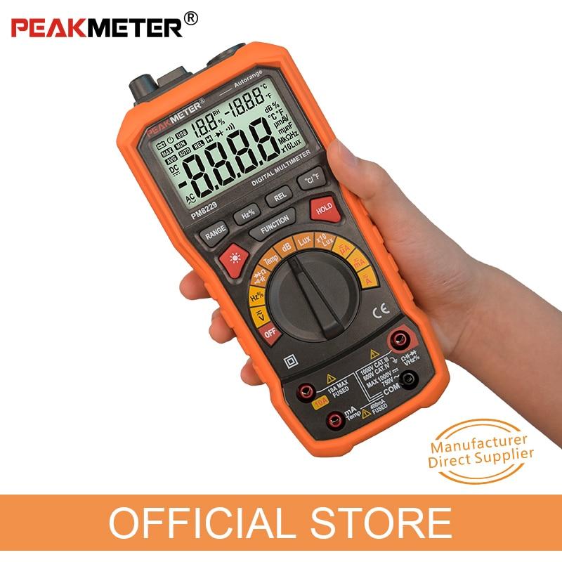 PEAKMETER PM8229 Multimetro digitale automatico 5 in 1 con Lux - Strumenti di misura - Fotografia 3