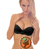 Brand New Women S Invisible Self Adhesive Backless Pump Air Pad Strapless Push Up Bra Black