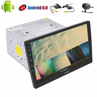 Wireless Camera Quad Core 10 1 Android 6 0 Double Din Stereo Audio Headunit 2 Din