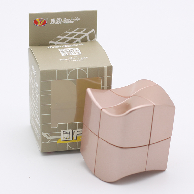 Newest Yj Yongjun Yuanfang 2x2 Magic Cube Rose Golden Sliver Professional 2x2x2 Speed Cube Shape Twist Educational Toys Game Refreshing And Enriching The Saliva Toys & Hobbies Magic Cubes