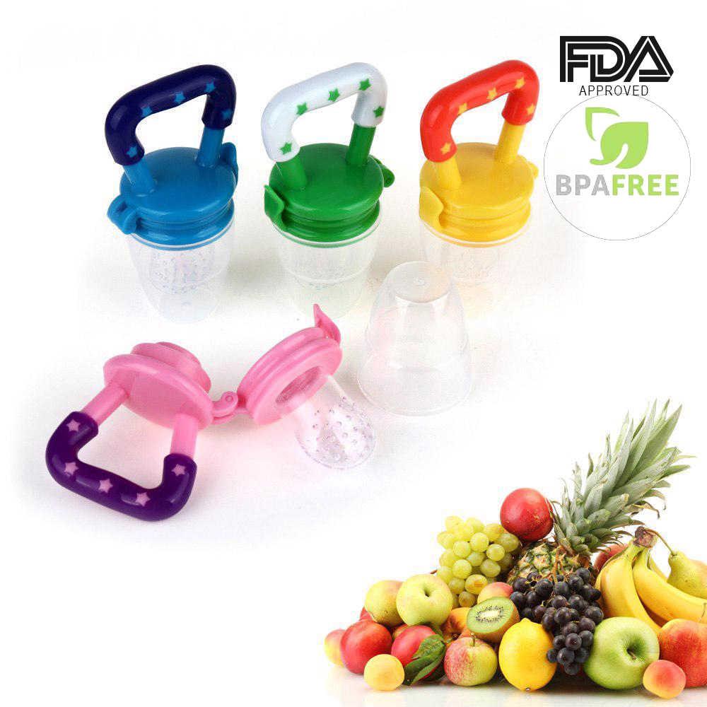 Ciuccio per alimenti per bambini ciuccio per frutta fresca alimentatore per bambini giocattolo per dentizione Nibbler massaggiagengive ciuccio ciuccio in Silicone sicuro per bambino S M L