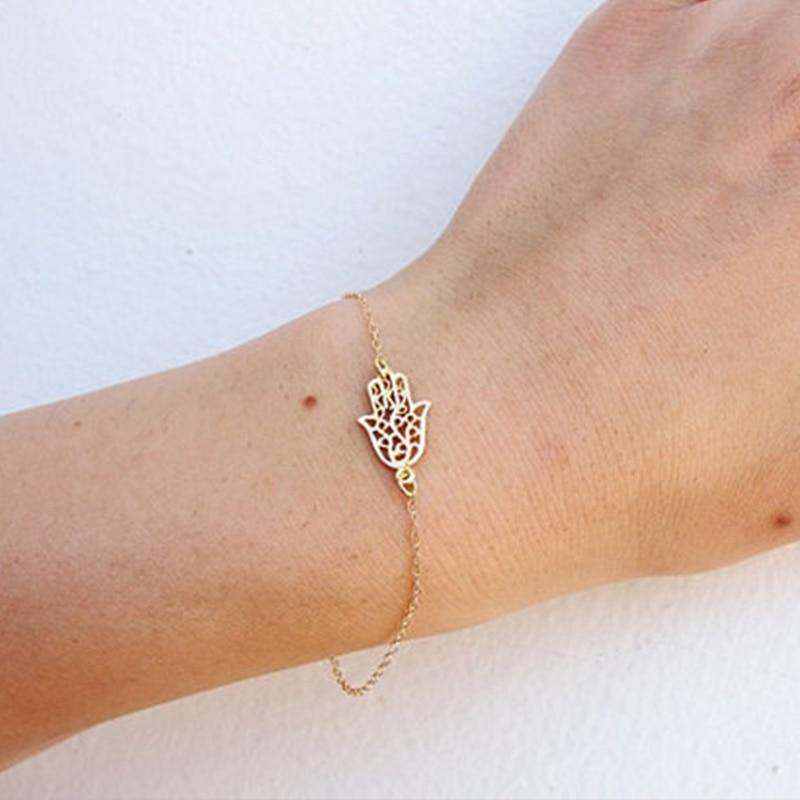 Simple Gold bracelet Fatima bracelet For Women Fashion jewelry ...