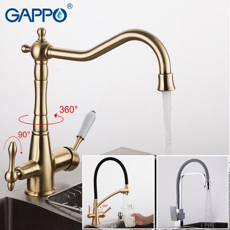 GAPPO rubinetto della cucina in ottone antico da cucina filtro rubinetti rubinetti di acqua potabile mixer tap rubinetto di acqua purificata
