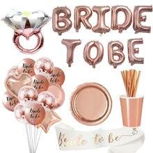 1 conjunto de balões para ser led, balões de papel cortado, bandeira, placas de palha, despedida de solteira, festa de casamento, chá de noiva decoração